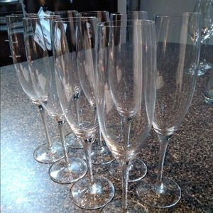 Champagne glasses, set of 8